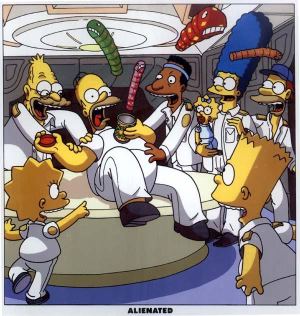 Galeria humoristica de Alien y Depredador Simpsons_aliens_2